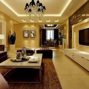 靓丽简约客厅装修设计