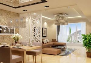 时尚大气大户型客厅设计