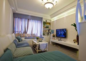 欧式风格大户型客厅飘窗装修效果图