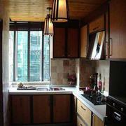 复古潮流厨房装修设计