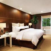宾馆原木背景墙设计