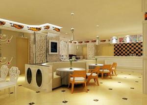 80平米高档奶茶店装修效果图设计
