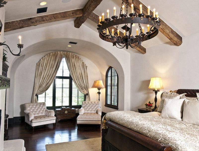 大户型美式家庭装修风格样板房效果图
