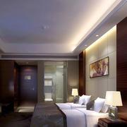现代简约风格宾馆卧室吊顶