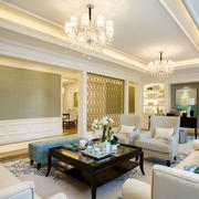 淡雅素色客厅