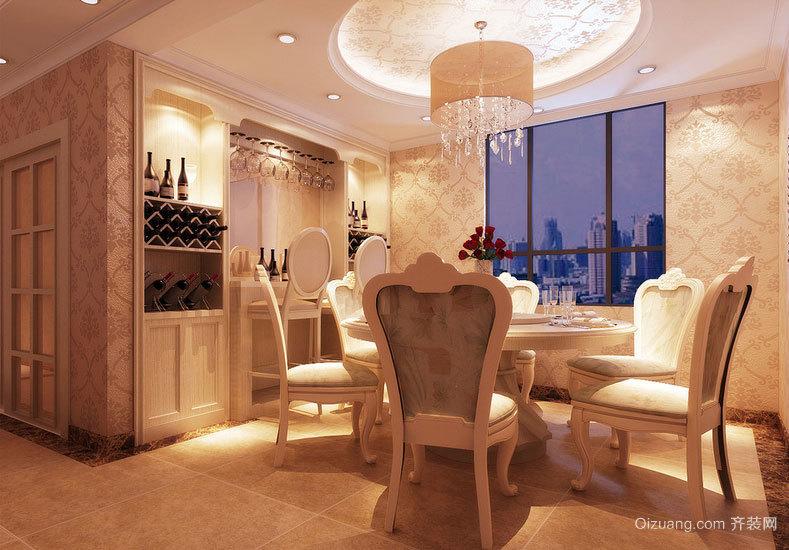 舒适的欧式大户型餐厅吊顶装修效果图