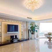 大户型宽敞客厅电视背景墙