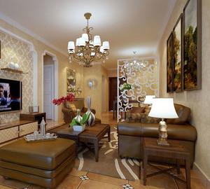 充满爱的欧式客厅玄关鞋柜装修效果图