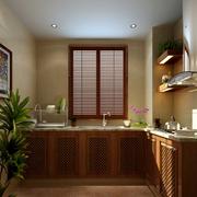 欧式小户型厨房背景图