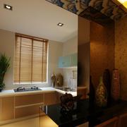 欧式厨房吧台装修效果图
