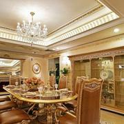 金色的欧式餐厅设计