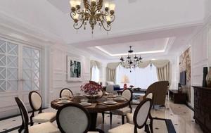 欧式风格200平米别墅餐厅装修效果图