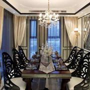 欧式风格餐桌摆放
