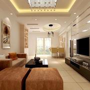 温暖黄色客厅设计