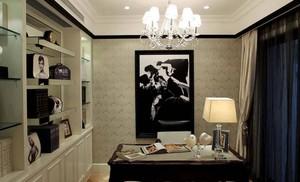 欧式风格20平米家居书房装修效果图