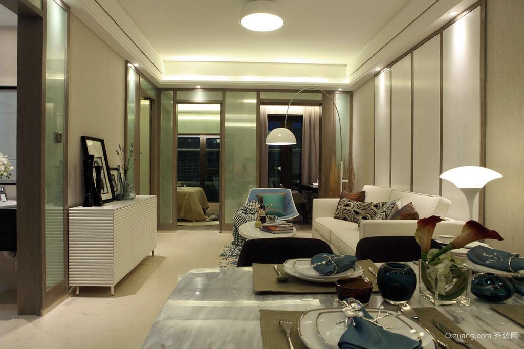 完美视角:50平米1居室小户型家装设计成品图