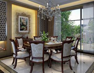 200平米小别墅专用欧式餐厅装修效果图设计