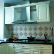 欧式上下层厨柜设计