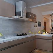 小厨房白色简约设计效果图