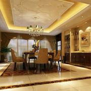 餐厅暖色灯饰设计