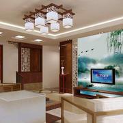 中式水墨画背景墙
