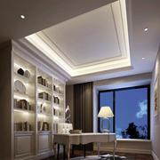 简约的欧式风格书房吊顶设计