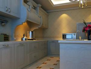 大户型时尚欧式整体厨房装修效果图