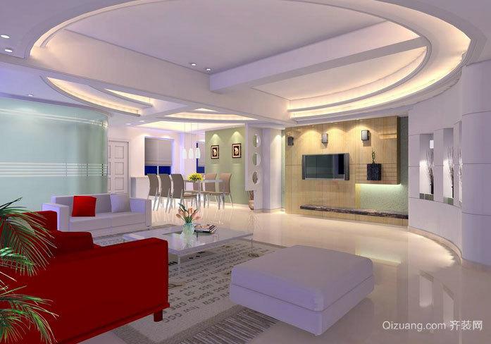 120平米简约风格客厅装修效果图