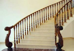 大户型现代风格旋转楼梯装修效果图