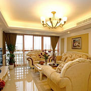 暖色调客厅装修设计