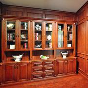 古典韵味书柜图片