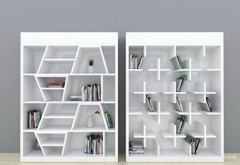 120平米复式楼有品位的书柜装修效果图