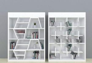 白色调书柜设计