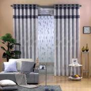 灰色调窗帘设计