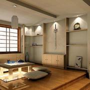 日式简约客厅吊顶设计
