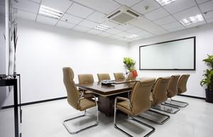 淡色调会议室装修