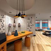 50平米小型家装镂空隔断设计