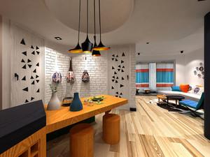 50㎡蓝色风情之地中海风格小户型家装示例图