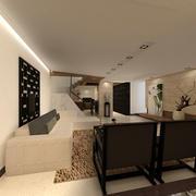 现代简约型一体化客厅设计