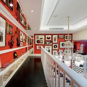 红色小户型客厅设计