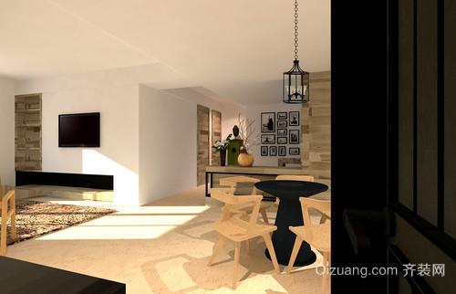 轻奢风范:欧式简约小型公寓装修效果图