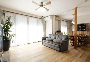 两室一厅日式风格客厅装修效果图