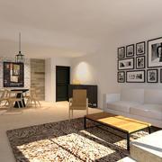 简约系客厅装饰画设计