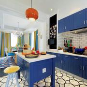 蓝色小户型厨房设计