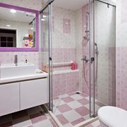 家居粉红卫生间图