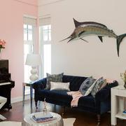 简约型客厅沙发背景墙装饰