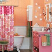 卫生间窗帘隔断设计