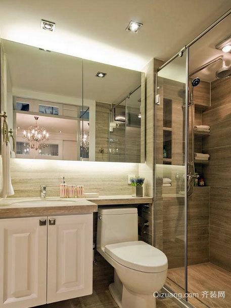 豪华都市家庭欧式风格小卫生间装修效果图
