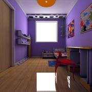 怡情紫色调儿童房大全