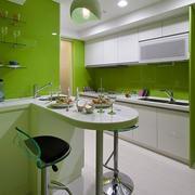 家居绿色厨房图片